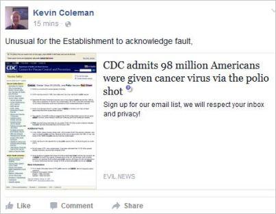Coleman 37 polio cancer virus