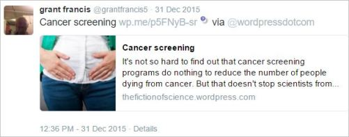 Gfrancis 3 cancer screening does nothing