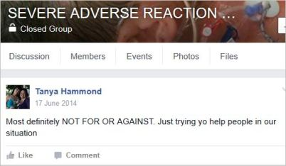 Hammond 94 AE June 2014 not for or against vax