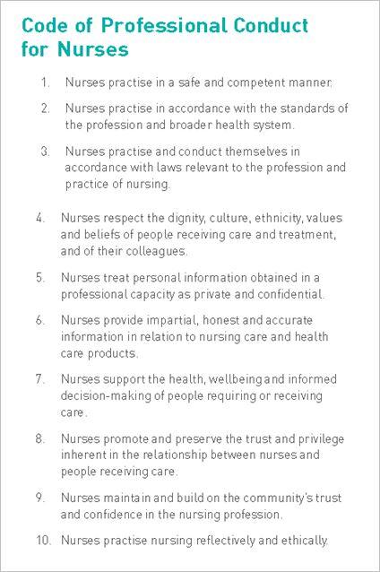 Nurse Code of Conduct
