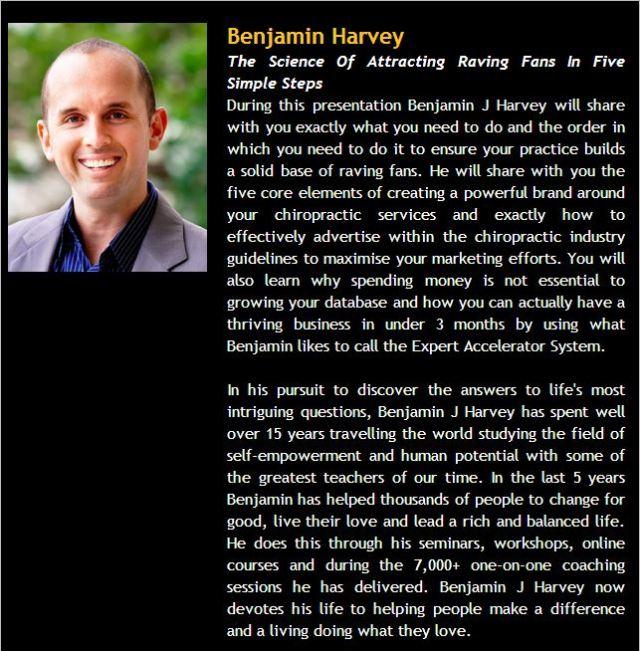 Benjamin Harvey DGC blurb