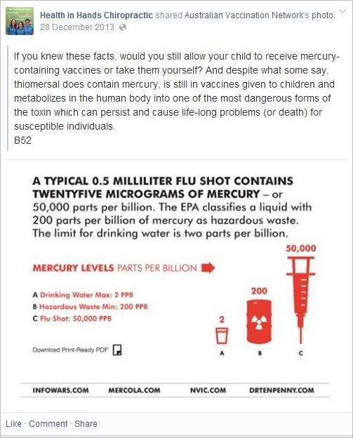 HIH 1 AVN flu shot mercury