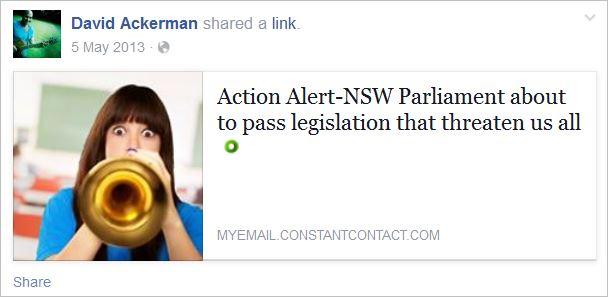 Ackerman 6 Dorey NSW Parl petition