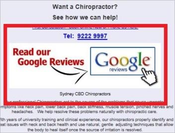 Brooks 34 Google reviews link on website