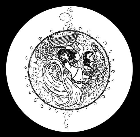 mermaids circle frame