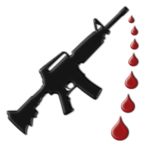 assault and blood drops