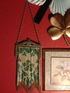 metal and beaded purse from 1920s