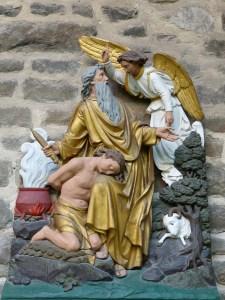Abraham Isaac Human sacrifice interupted.
