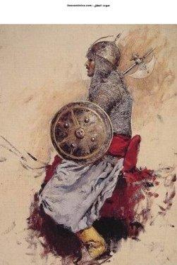 رسمة لمقاتل في الهند