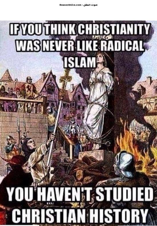 كل الاديان لها تاريخ اسود مع التطرف