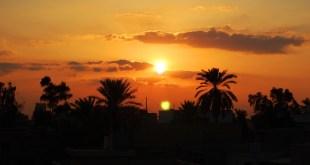 غروب الشمس في بغداد