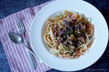 Špagety s chřestem a houbami | reBarbora's kitchen