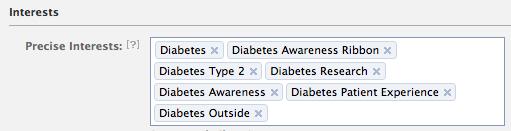 Facebook patient recruitment interests