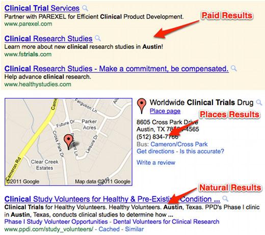 Clinical trials google recruitment