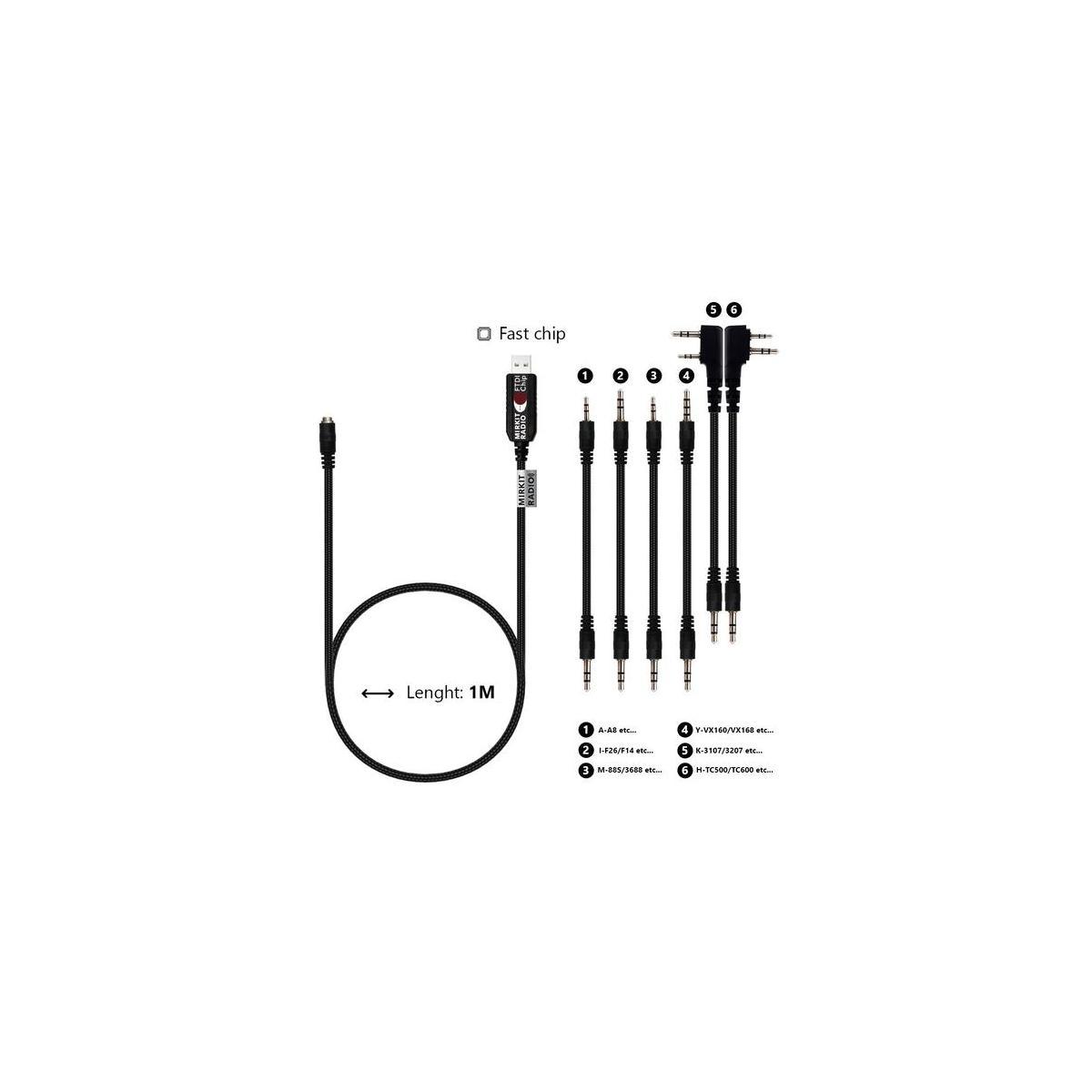 Mirkit Ftdi Usb Model 5 Premium Universal Black Baofeng