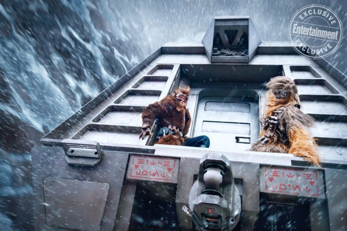 SOLO: A STAR WARS STORY Pictured: Alden Ehrenreich is Han Solo and Joonas Suotamo is Chewbacca