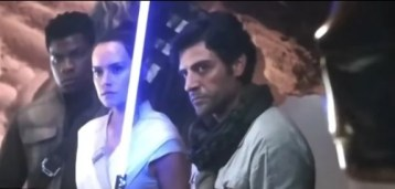 Poe, Rey, Finn, Chewie i C-3PO
