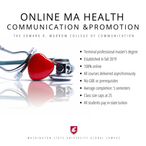 Online MA Health Communication and Promotion
