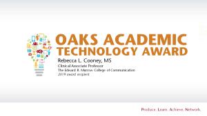Oaks Academic Technology Award
