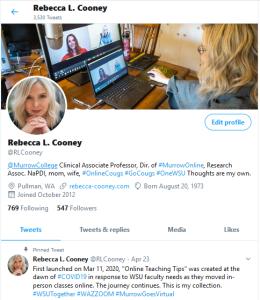 Rebecca Cooney Twitter