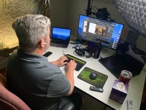 Chris Cooney in studio
