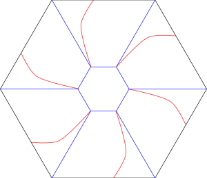 Pleated bowl crease pattern