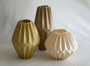 Corrugated vases