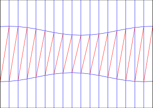 Diagonal shift crease pattern 1