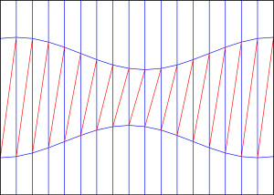 Diagonal shift crease pattern 2