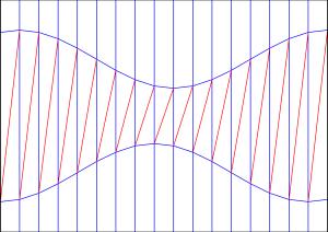 Diagonal shift crease pattern 3