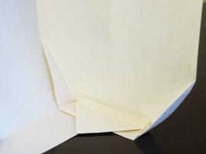 Piece 1, version 1: Folded base (inside view)