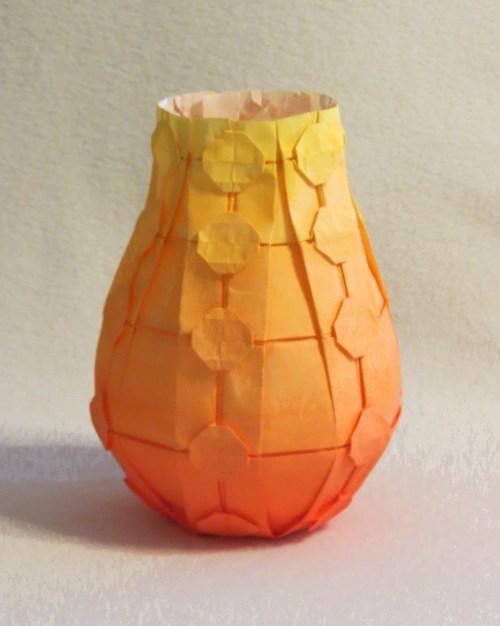 Polka-dotted vase