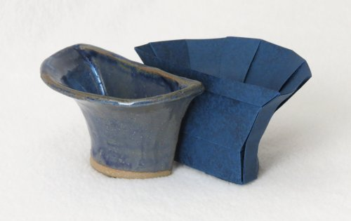 Origami/ceramic split bowl