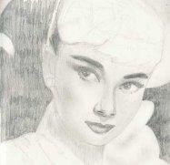 Audrey Hepburn by Rebecca Anne Jones.