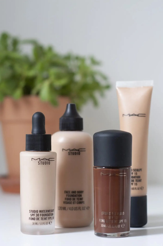 A range of different types of foundation