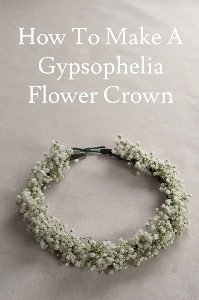 How to make a gypsophelia flower crown - quick and easy tutorial