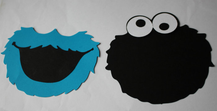 Cookie Monster Invitation Steps