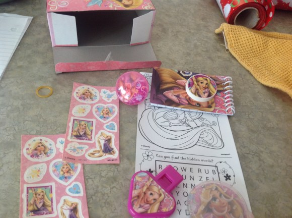 tangled party box contents