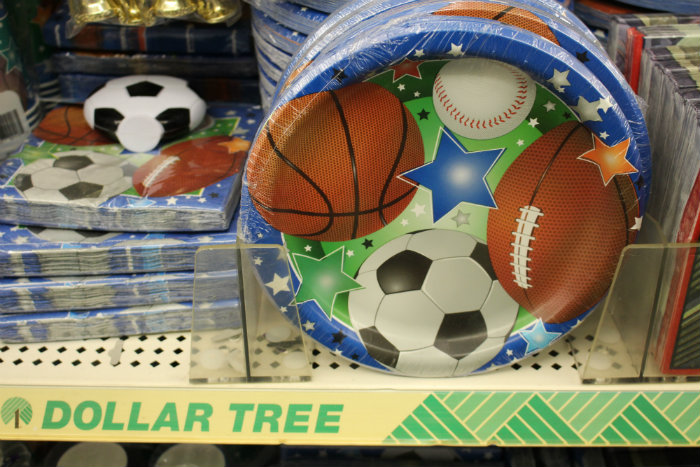 Dollar Tree Football Soccer Basketball Tableware
