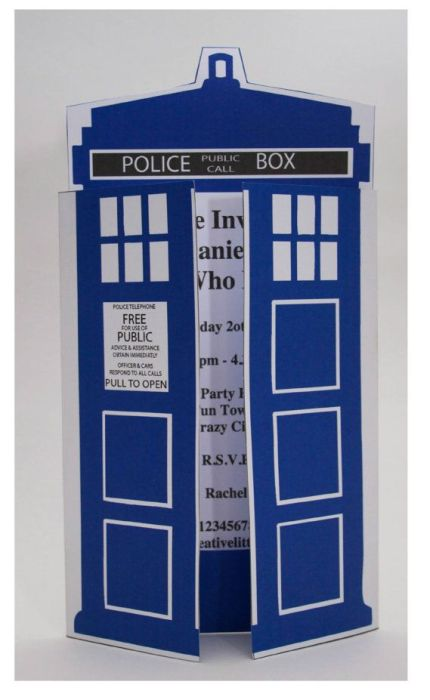 Dr. Who Invitaton
