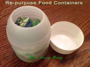 repupose food containers