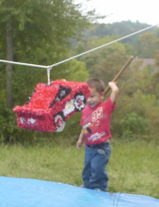 how to make a lightening car pinata