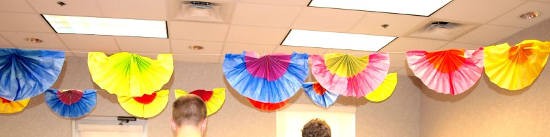 How to Make Fiesta Fan Ceiling Decorations
