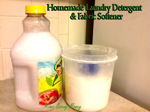 homemade laundry detergent and fabric softener copy