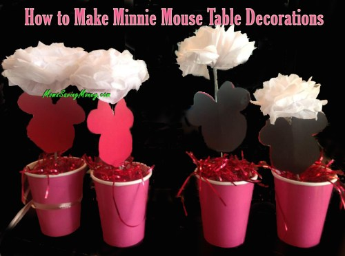 How to make minnie/mickey mouse clubhouse table decorations
