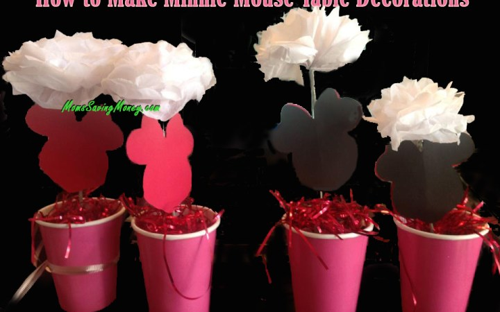 How to make minnie mouse table decorations