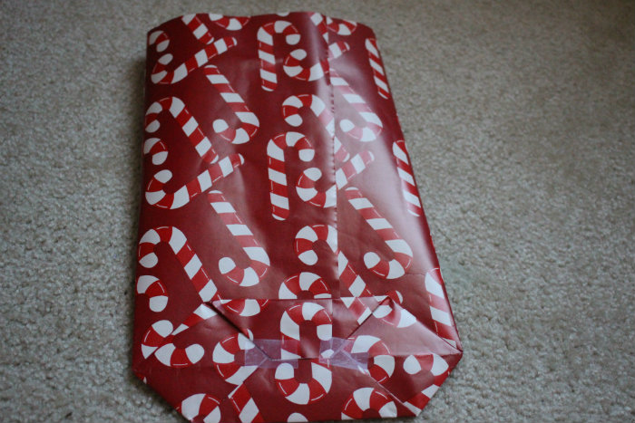 step 8 wrapping paper gift bag