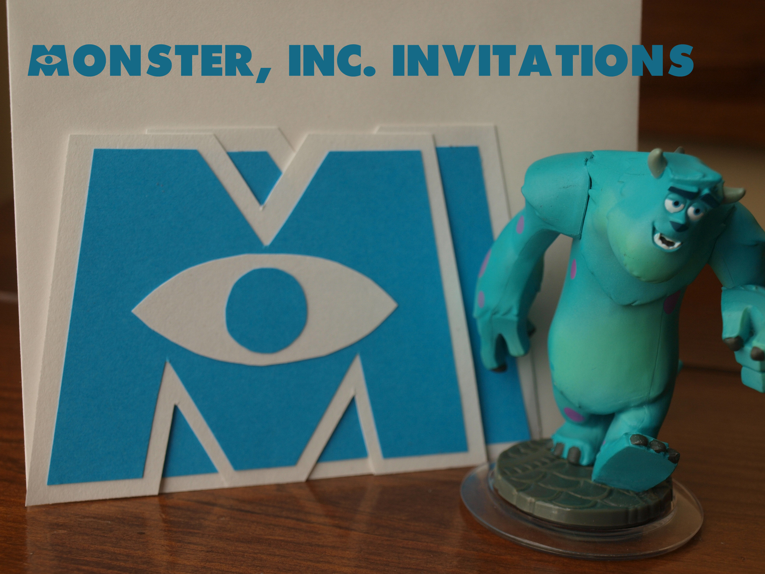 Handmade Monsters Inc Invitations Rebecca Autry Creations