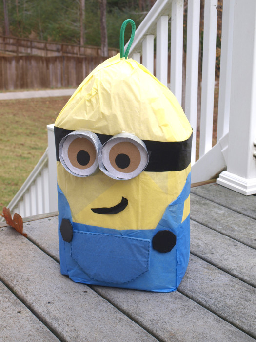 How to Make a Minion Pinata out of cardboard despicable Me