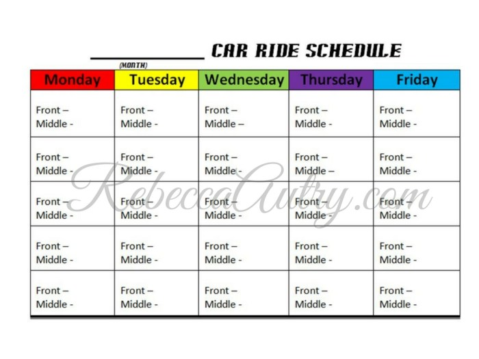 car-ride-schedule